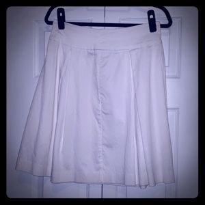 Cutest A-Line, Flared White Skirt